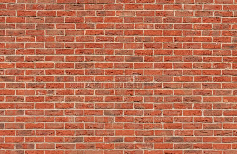 Brown Brick Wall stock image