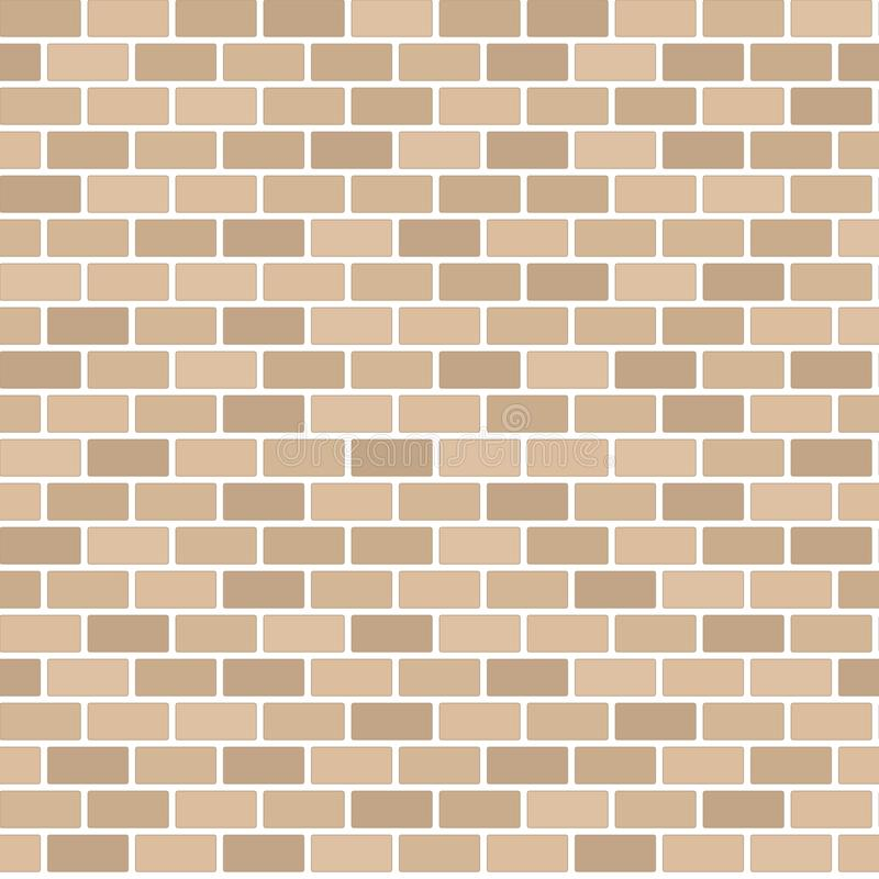 Brown brick wall background - Vector. Illustration royalty free illustration