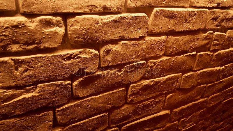 Brown brick wall perfect for abstract background. Brick wall or fence, perfect for abstract background stock image