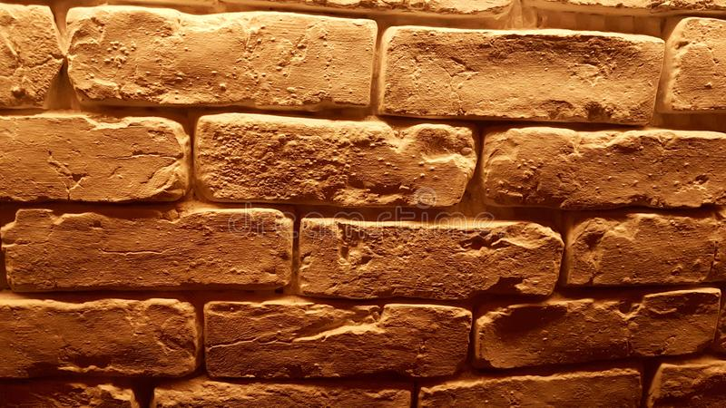 Brick wall perfect for background detail. Brown brick wall perfect for detail abstract background stock photos