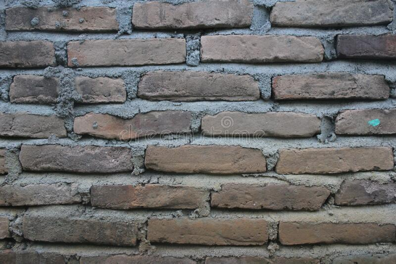 Brown Bricked Wall royalty free stock images