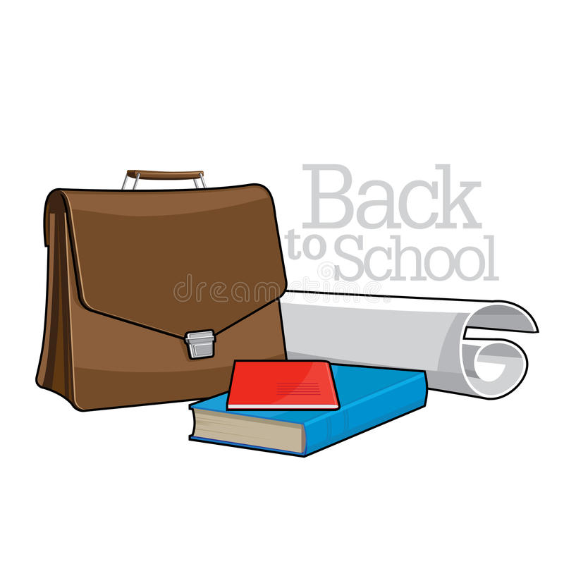 Download Brown Brief Case And Books Stock Photo - Image: 26328830