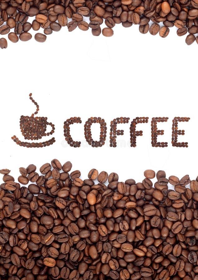Brown briet Kaffeebohnen stockbild