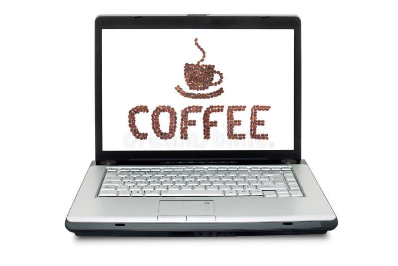Brown briet Kaffeebohnen stockfoto