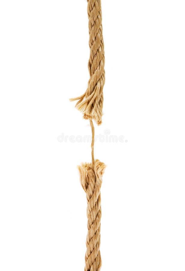 Brown broken rope stock photo