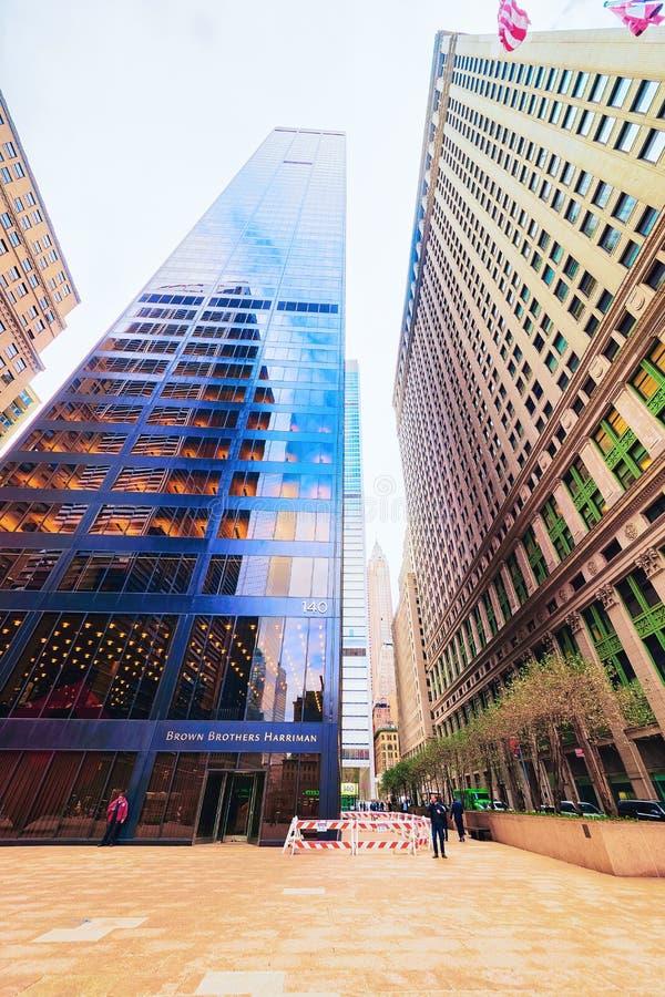 Brown Brothers Harriman-Gebäude in New York City stockfotografie
