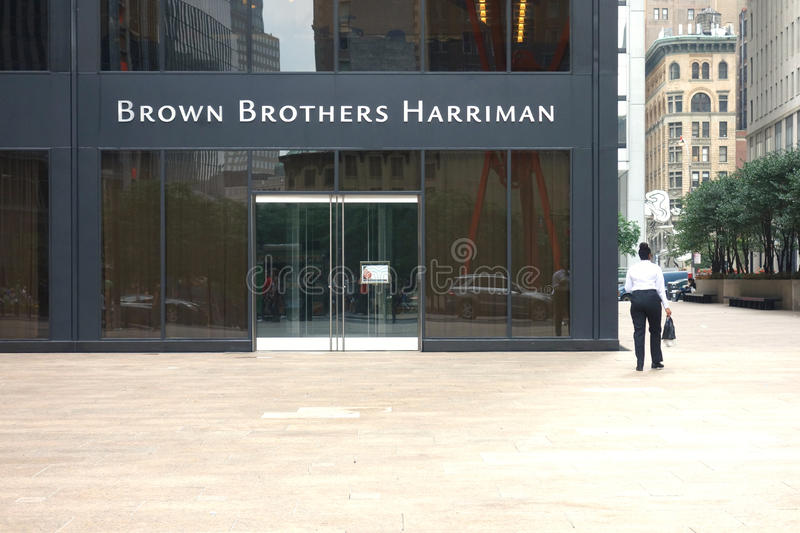 Brown Brothers Harriman royalty free stock photography
