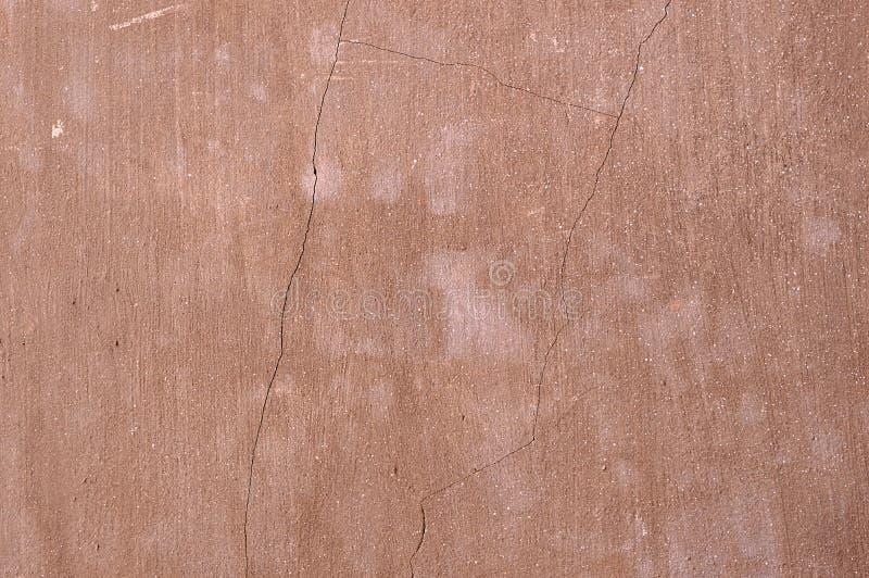 Brown buduje, sepiowy, ocher, tekstura, tło, puste miejsce, rocznik, naprawa, projekt, pokrywa, dom, ściana, budynek, z pęknięcia fotografia stock
