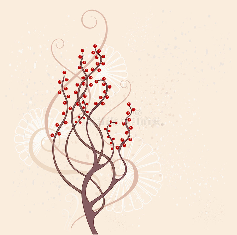 Download Brown bush stock vector. Illustration of decorative, picture - 7297186