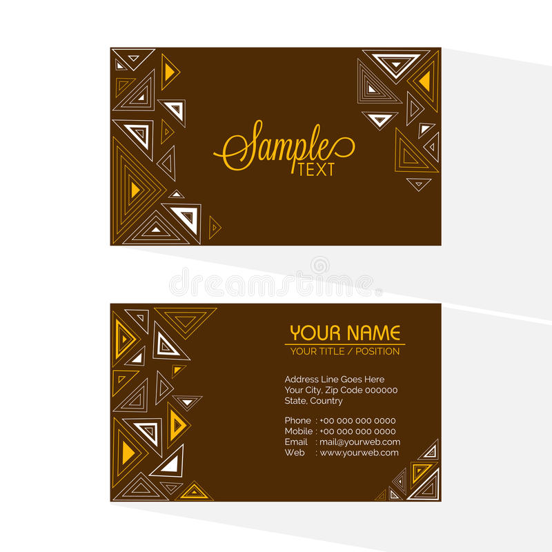 Brown business or visiting card stock image image of beautiful artistic horizontal business card or visiting card set with front and back side presentation colourmoves