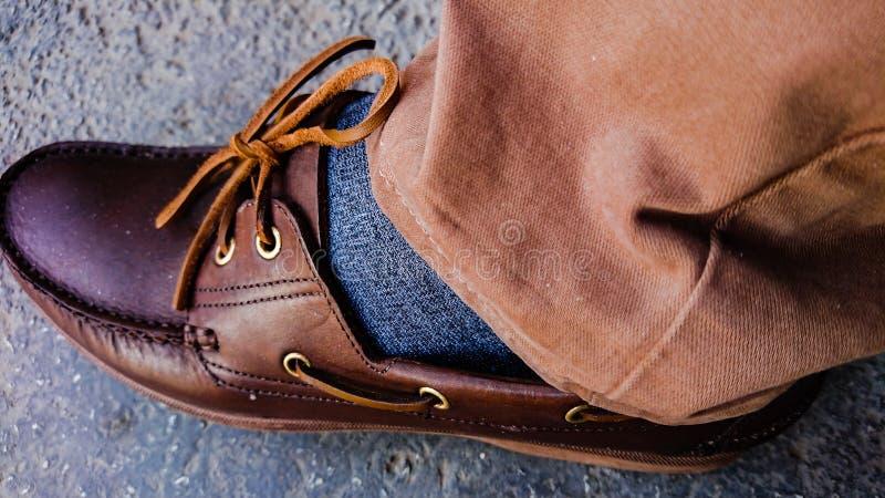 Brown buty, koronki & spodnia, obrazy stock