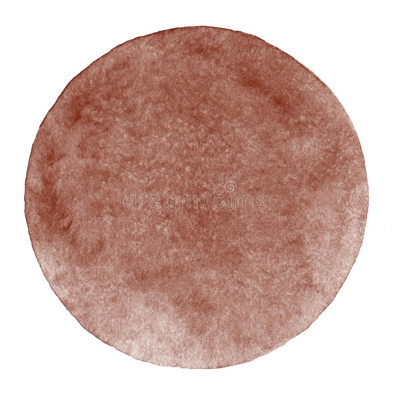 Brown, café, fondo del círculo de la acuarela del chocolate ilustración del vector