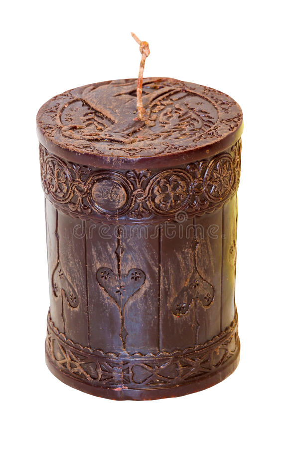 Download Brown candle stock image. Image of ornamental, carved - 14853205