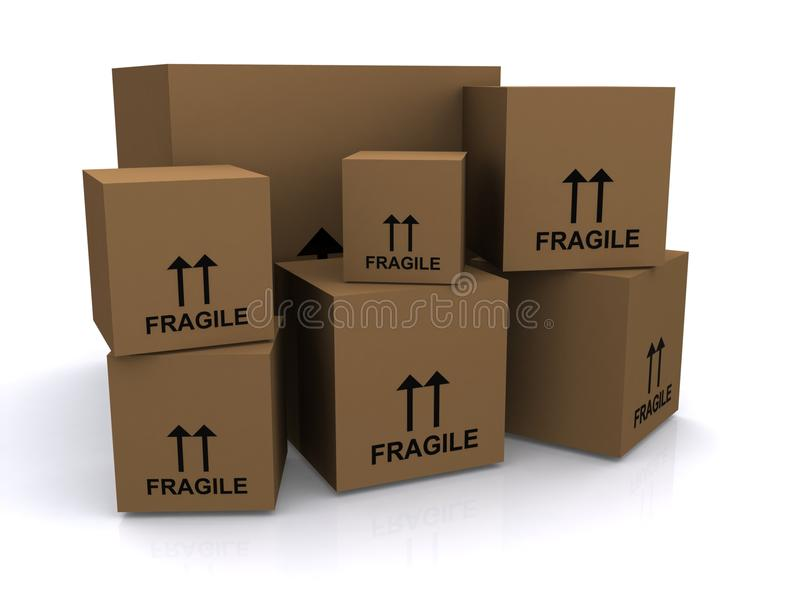 Brown Cardboard Boxes Royalty Free Stock Image