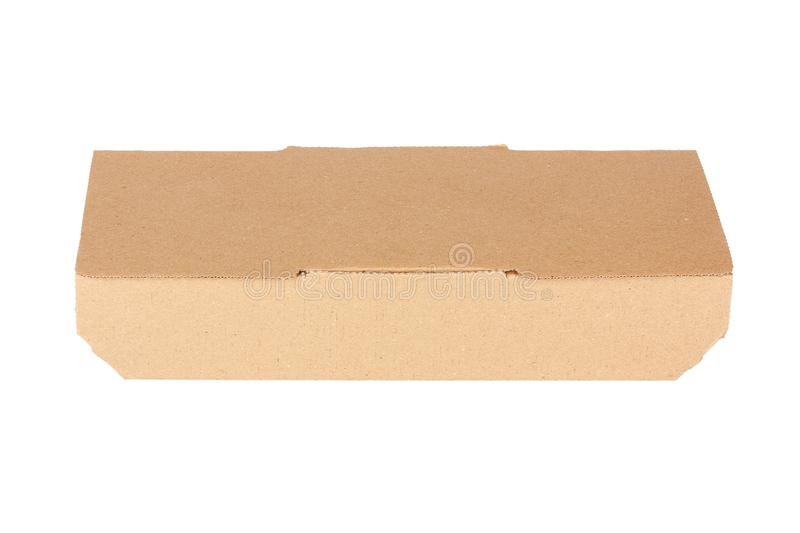 Brown Cardboard Fast Food Box, Packaging For Lunch, Chinese Food royalty free stock images