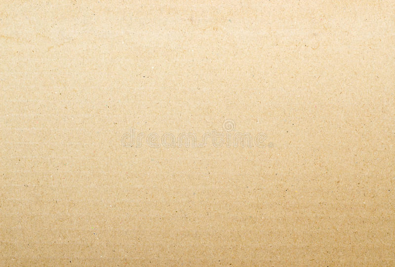 Brown cardboard paper background stock photo