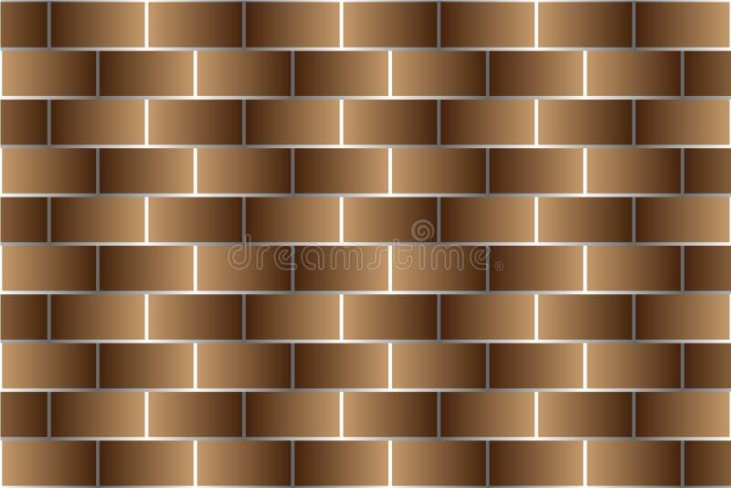 Brown cegły - wektoru wzór ilustracja wektor