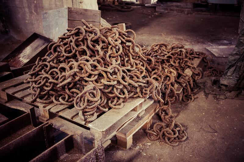 Download Brown Chains On Wooden Palette Stock Photo - Image of free, chain: 82930286