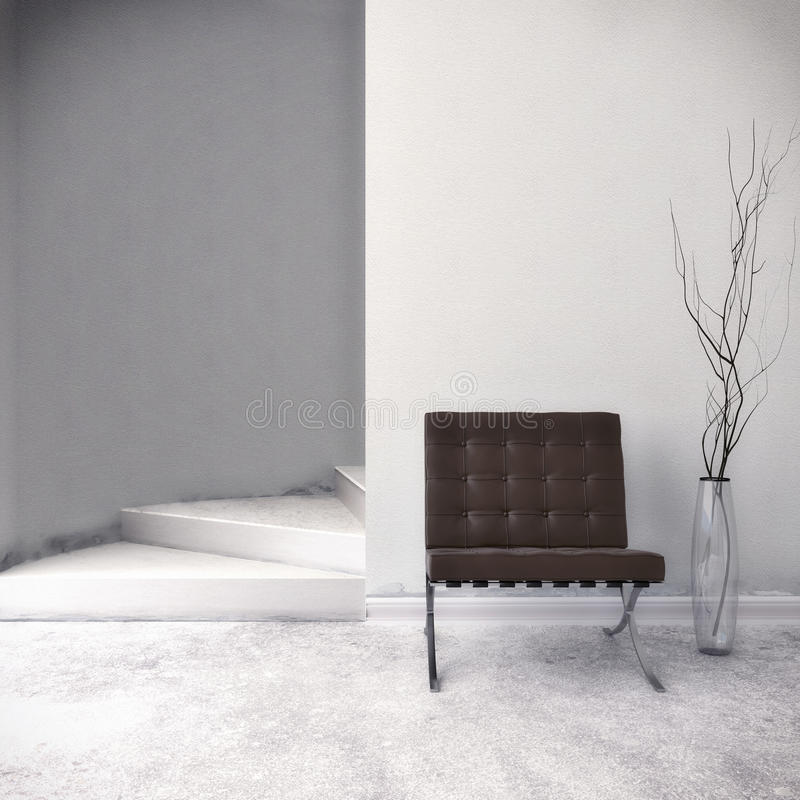 Download Brown Chair stock illustration. Image of seat, black - 42266994