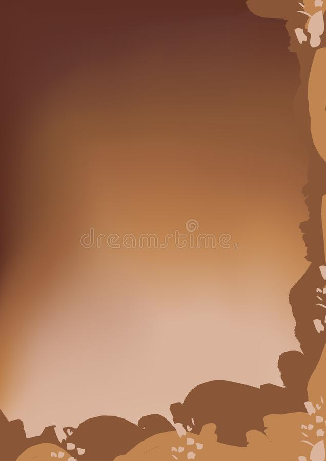Brown chocolate milk Vector Background. Abstract Design royalty free illustration