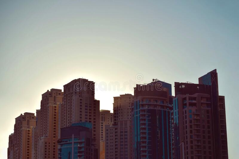 Brown City Skyline Under White and Gray Clear Sky during Daytime royalty free stock photo