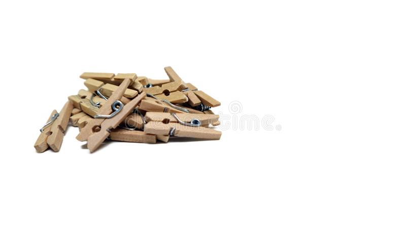 Brown Clamps. On white backdround stock photography