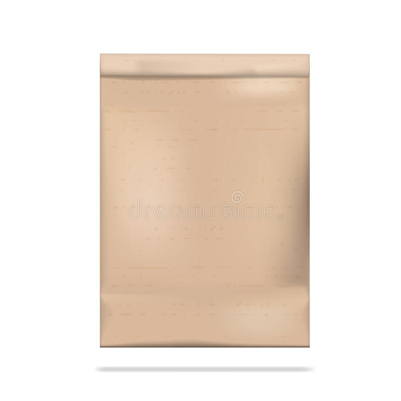 Brown Clear Empty Blank Craft Paper Bag Packaging stock illustration