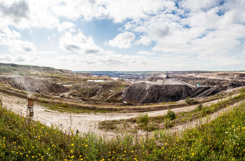 Brown coal mine royalty free stock images