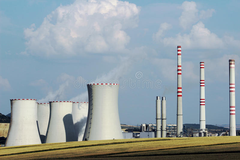 Download Brown Coal Power Plant Station In The Field Stock Photo - Image: 40333862