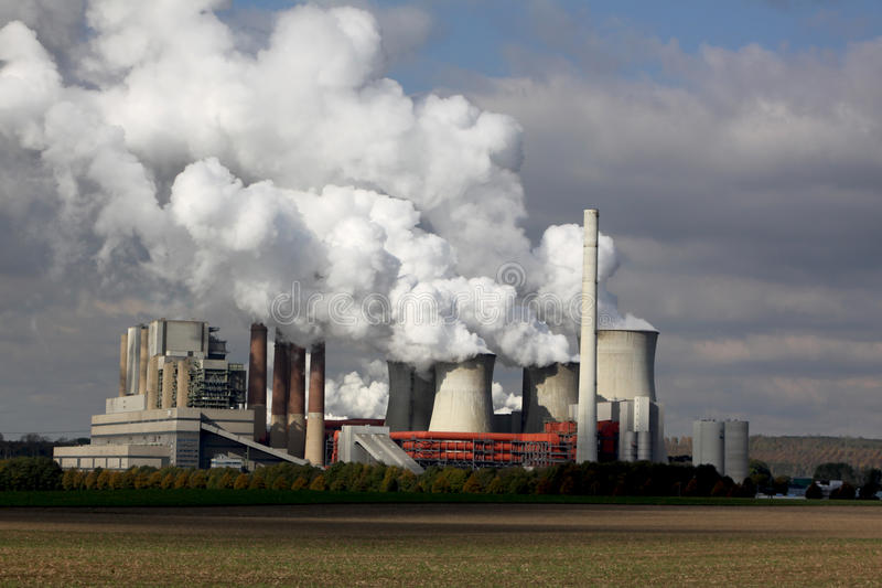 brown coal power station royalty free stock image