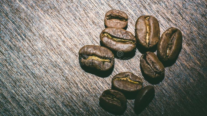 Brown coffee beans in the morning stock photos