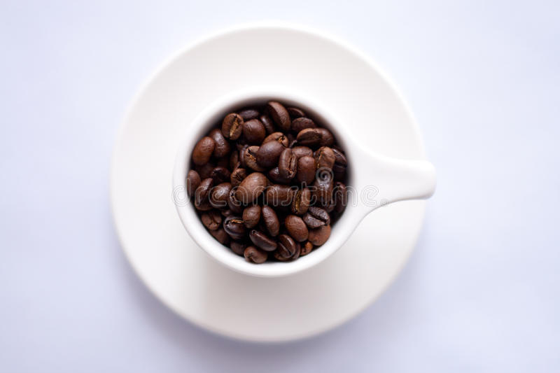 Brown Coffee Beans On White Ceramic Cup Free Public Domain Cc0 Image