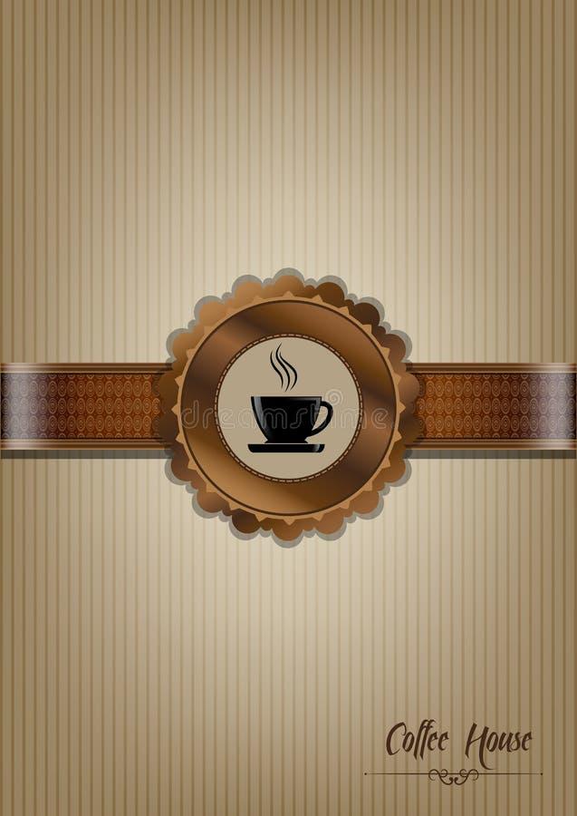 Brown coffee house menu design vector illustration