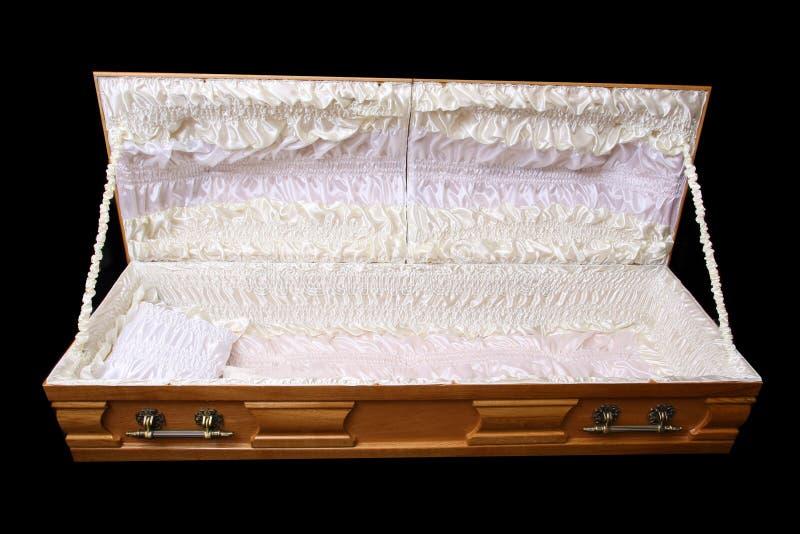 Brown coffin stock photos