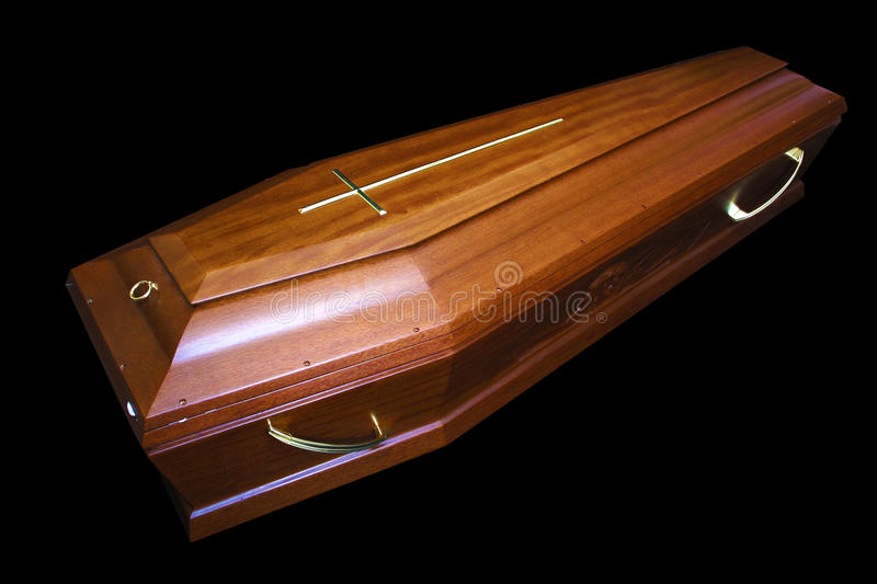 Download Brown coffin stock image. Image of funereally, cross - 26193585