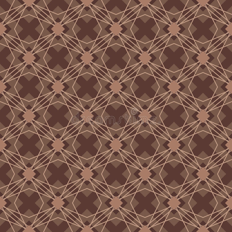 Brown color diamond shape seamless pattern vector illustration