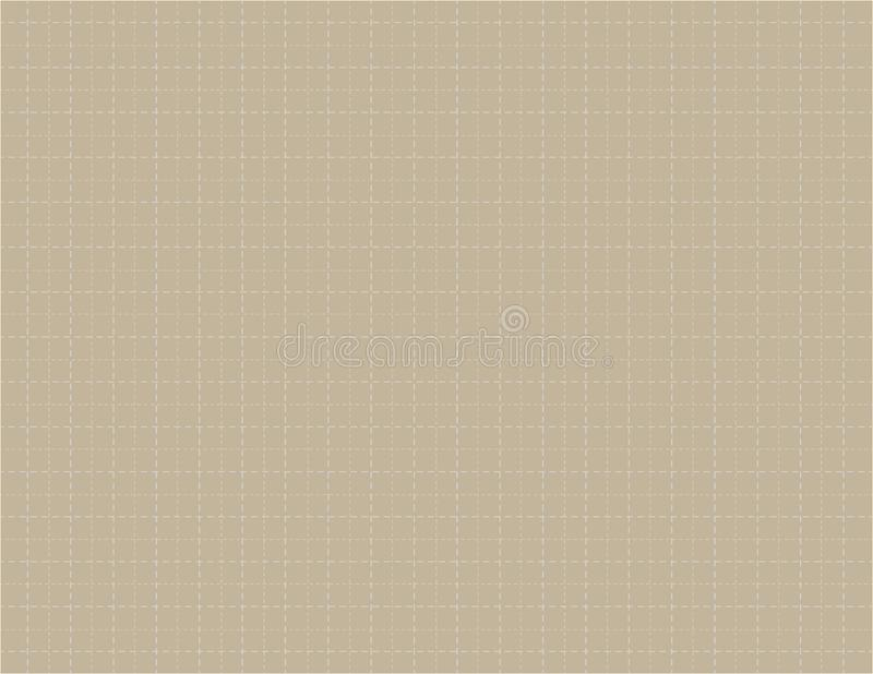 Brown color graph paper canvas with many dashed lines background for drawing vector illustration stock illustration
