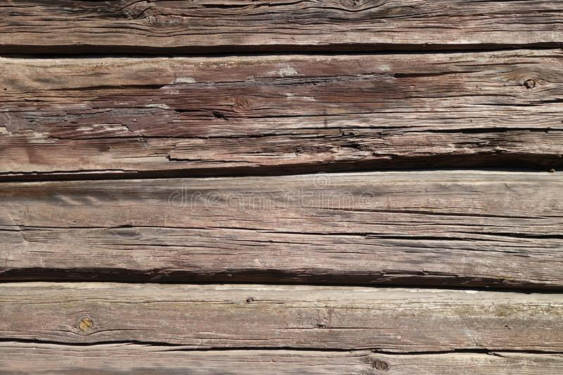 Brown color old wooden wall. Abstract background and texture for design, vintage, weathered, timber, tree, carpentry, natural, painted, materials, board, plank stock photography