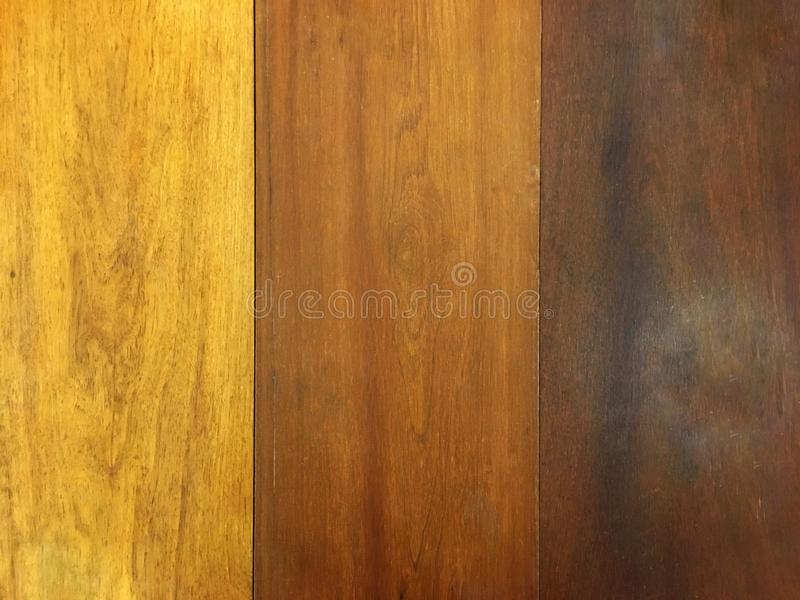 Brown color shade of wood plank. Old vintage style of wooden table. Brown color shade of wood plank. Old vintage style of wooden table on top view stock photography