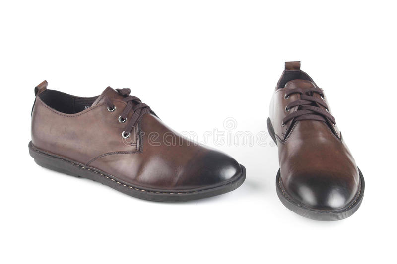 Brown colour leather shoes stock image. Image of isolated - 50593005