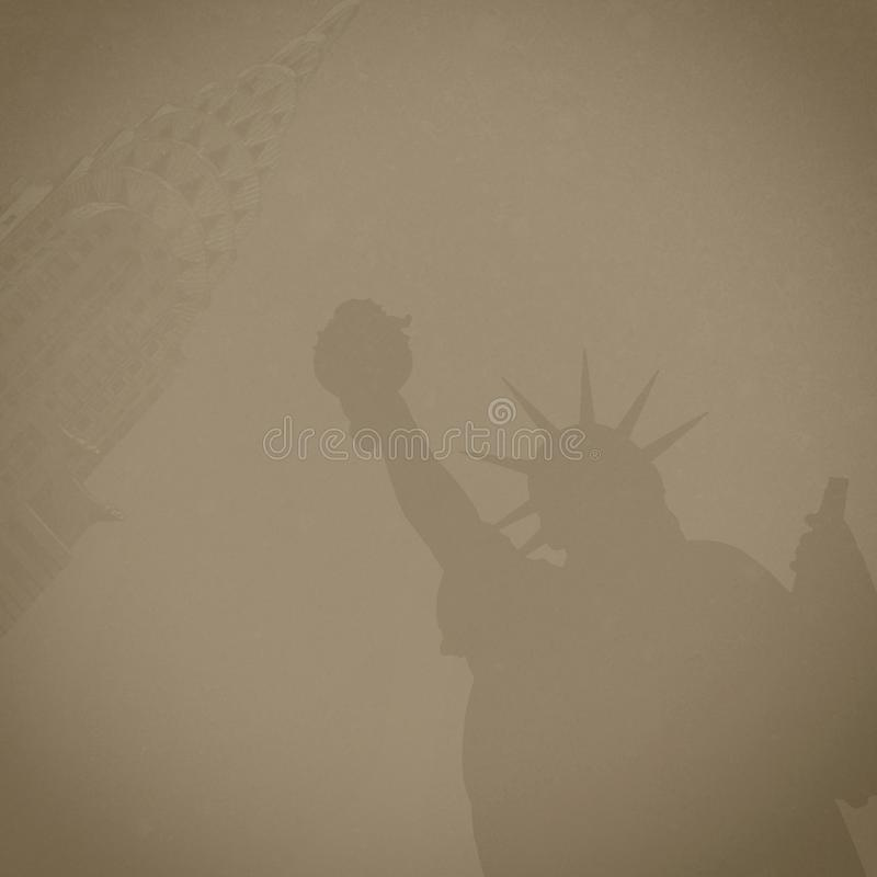 Brown Composite Background New York City stock photo