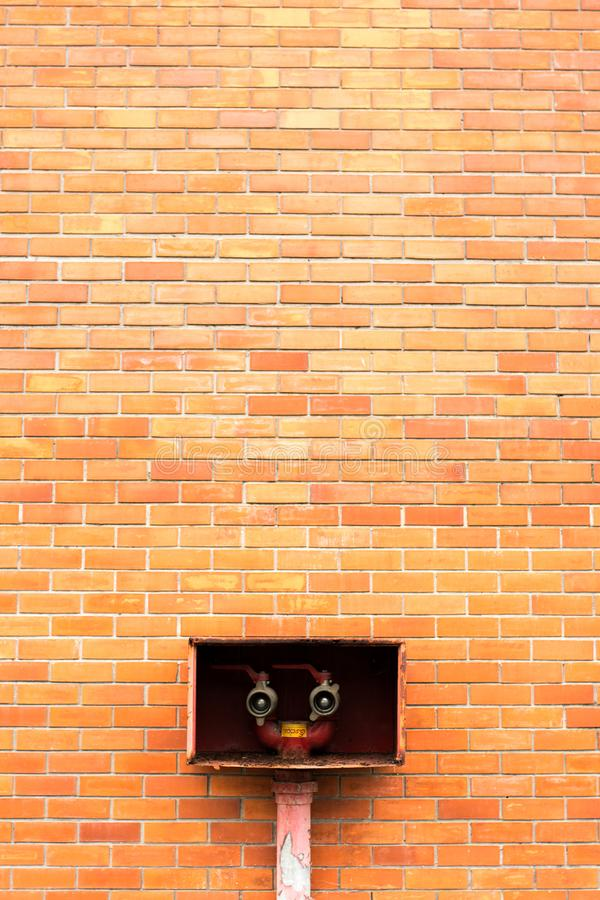 Brown Concrete Brick Wall stock photo
