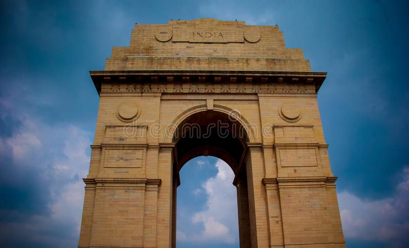 Brown Concrete India Gate stock photos