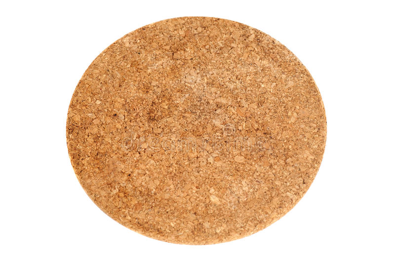 Brown Cork Coaster rond images stock