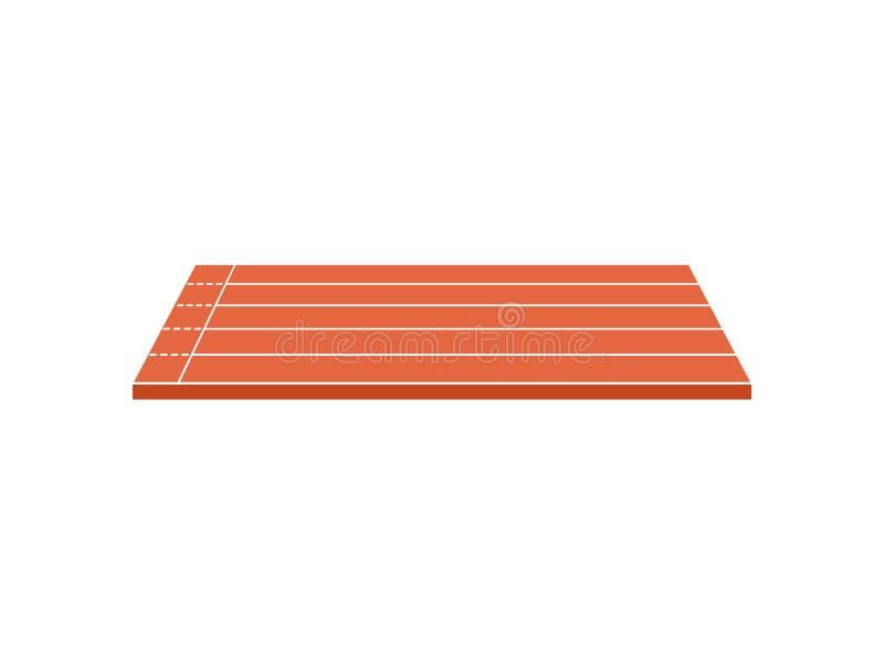 Court with treadmills. Vector illustration on white background. Brown court with treadmills. View from above. Vector illustration on white background stock illustration