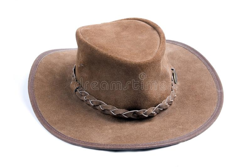 Brown cowboys hat royalty free stock photos