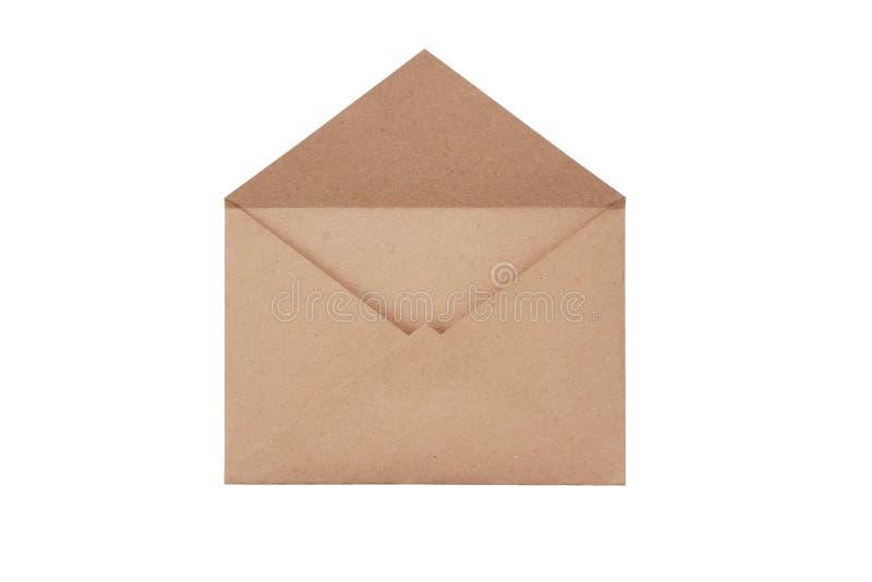 Brown craft envelope royalty free stock image