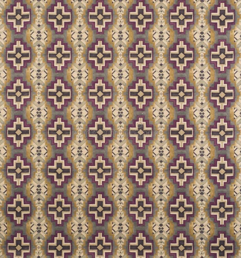Brown, crema, papel pintado cruzado púrpura Swatch del modelo fotografía de archivo