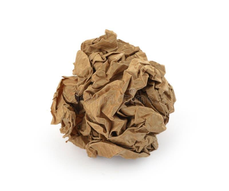 brown crumpled paper ball stock photos