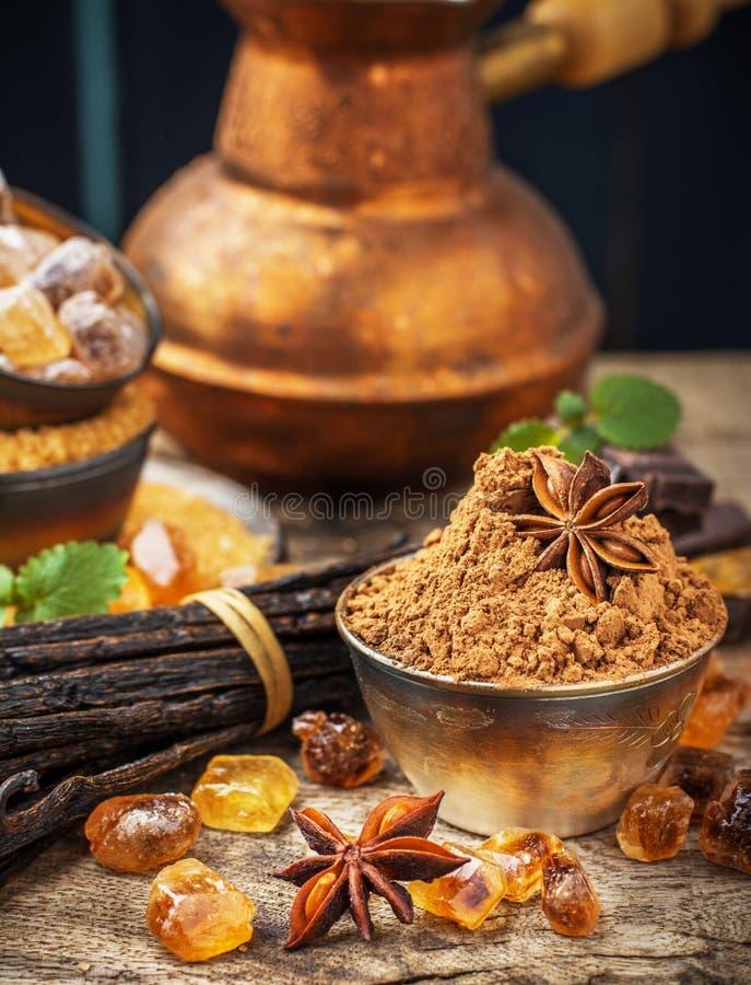 Brown cukier obrazy stock